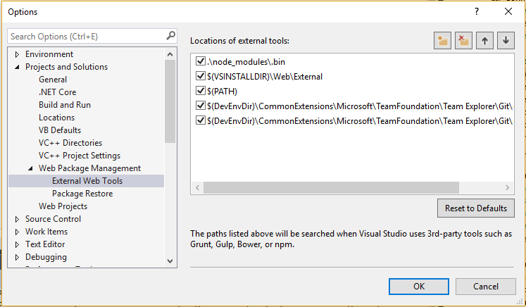 How to change node version in Visual Studio 2017 – Self